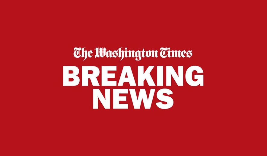BREAKING NEWS BANNER FROM THE WASHINGTON TIMES
