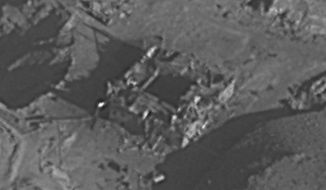 This photo released by the Israel Defense Forces shows what was believed to be a nuclear reactor site that was destroyed by Israel, in the Deir el-Zour region, 450 kilometers (about 300 miles) northwest of Damascus, Syria. The Israeli military confirmed Wednesday that it carried out the 2007 airstrike in Syria that destroyed what was believed to be a nuclear reactor, lifting the veil of secrecy over one of its most daring and mysterious operations in recent memory. (IDF via AP)