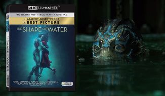 "An amphibious humanoid co-stars in ""The Shape fo Water,"" now available on 4K Ultra HD from 20th Century Fox Home Entertainment."