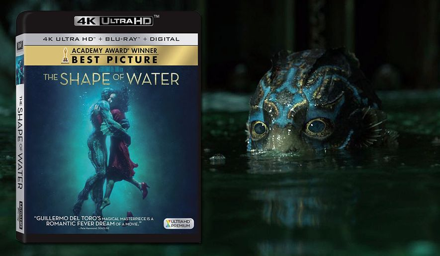 """An amphibious humanoid co-stars in """"The Shape fo Water,"""" now available on 4K Ultra HD from 20th Century Fox Home Entertainment."""