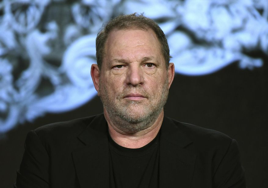 FILE - In this Jan. 6, 2016, file photo, producer Harvey Weinstein participates in a panel at the A&E 2016 Winter TCA in Pasadena, Calif. On Monday, March 19, 2018, The Weinstein Co. announced it has filed for bankruptcy protection with a buyout offer in hand from a private equity firm, the latest twist in its efforts to survive the sexual abuse scandal that brought down co-founder Weinstein. (Photo by Richard Shotwell/Invision/AP, File)