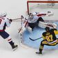 Pittsburgh forward Sidney Crosby and the Washington forward Alex Ovechkin have their respective teams neck-and-neck in the Metropolitan Division. The Capitals lead the division by four points over the Penguins with just two-and-a-half weeks remaining in the regular season. (Associated Press). ** FILE **