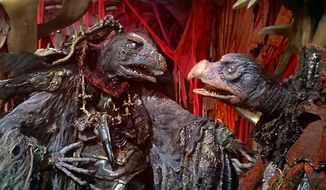 "The evil Skeksis plot in ""The Dark Crystal: Anniversary Edition,"" now available on 4K Ultra HD from Sony Pictures Home Entertainment."