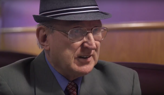Arthur Jones, an outspoken Holocaust denier and 2018 GOP nominee for Illinois' 3rd Congressional District, is seen here in a screen grab from a February 2018 video posted online by the Chicago Sun-Times.