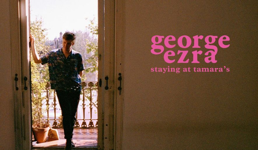 "This cover image provided by Columbia Records shows ""Staying at Tamara's"" a release by George Ezra. (Courtesy of Columbia Records via AP)"