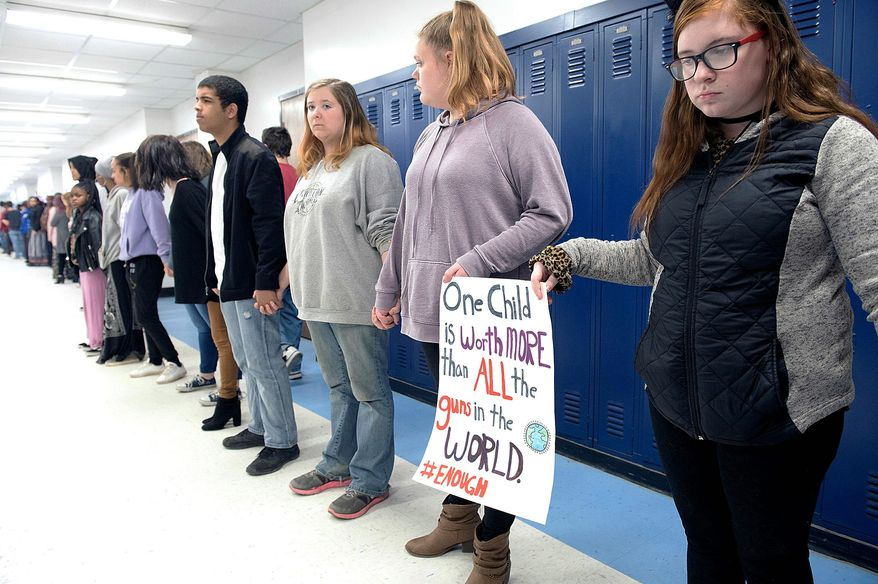 A proposed demonstration against abortion on April 11 will mirror last week's national school walkout against gun violence following last month's Parkland, Florida, shootings. (ASSOCIATED PRESS PHOTOGRAPHS) **FILE**