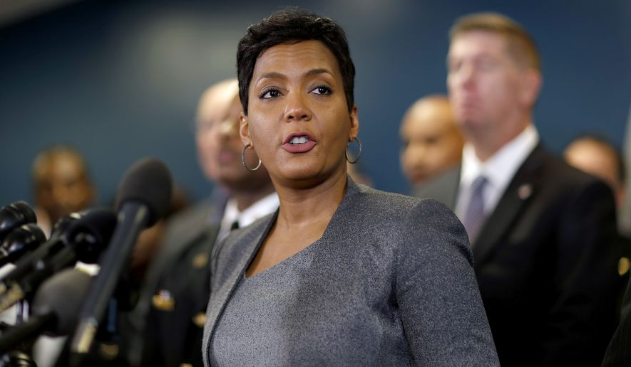 Atlanta Mayor Keisha Lance Bottoms speaks at a press conference in Atlanta, Thursday, Jan. 4, 2018. (AP Photo/David Goldman) ** FILE **