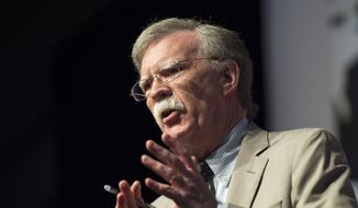 Ambassador John Bolton, senior fellow at the American Enterprise Institute, speaks during Faith and Freedom Coalition's Road to Majority event in Washington, Thursday, June 19, 2014. (AP Photo/Molly Riley) ** FILE **