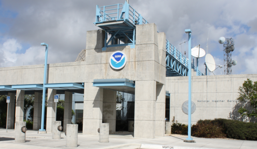The National Hurricane Center headquarters in Miami, Fla., is shown here in this photo from the agency's website. (NHC/NOAA) [https://www.nhc.noaa.gov/aboutintro.shtml]