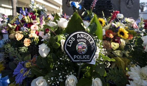 California governor to attend funeral of fallen officer