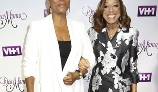 "FILE - In this May 3, 2016, file photo, Queen Latifah, left, and her mother Rita Owens attend VH1's ""Dear Mama"" Mother's Day Special taping at St. Bartholomew's Church in New York. In a statement, Latifah said Owens died Wednesday, March 21, 2018, after struggling with a heart condition for many years. (Photo by Greg Allen/Invision/AP, File)"