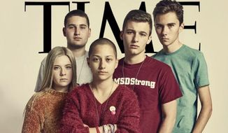 The new cover of Time magazine features a dramatic photo of the students who have been leading the push for stricter gun control laws in the aftermath of last month's mass shooting at their school in Parkland, Florida. (TIME)