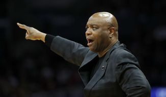 Florida State coach Leonard Hamilton gestures during the first half of the team's NCAA men's college basketball tournament regional final against Michigan on Saturday, March 24, 2018, in Los Angeles. (AP Photo/Jae Hong) ** FILE **