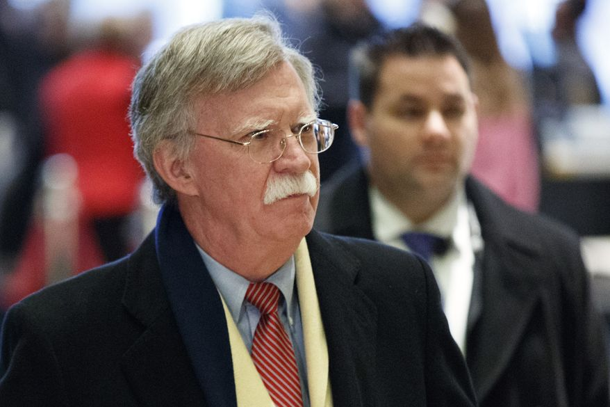 John Bolton, the former U.S. ambassador to the United Nations, arrives at Trump Tower for a meeting with President-elect Donald Trump, Friday, Dec. 2, 2016, in New York. (AP Photo/Evan Vucci)