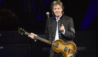 Paul McCartney performs on the One on One Tour at the Hollywood Casino Amphitheatre on Wednesday, July 26, 2017, in Tinley Park, IL. (Photo by Rob Grabowski/Invision/AP)