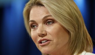 Rising State Department star Heather Nauert is a former Fox News anchor. (Associated Press)