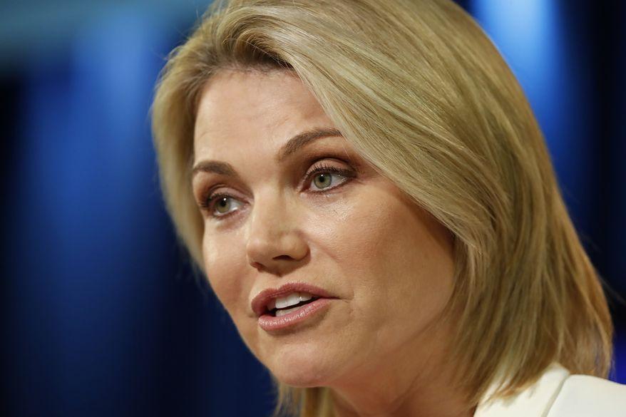 Rising State Department star Heather Nauert is a former Fox News anchor. (Associated Press)