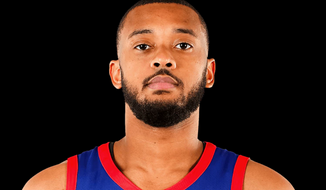 A headshot of Zeke Upshaw, a player for the Grand Rapids Drive of the NBA G League. Upshaw collapsed on the court near the end of a game on Saturday, March 24, 2018. (Photo courtesy of Grand Rapids Drive)