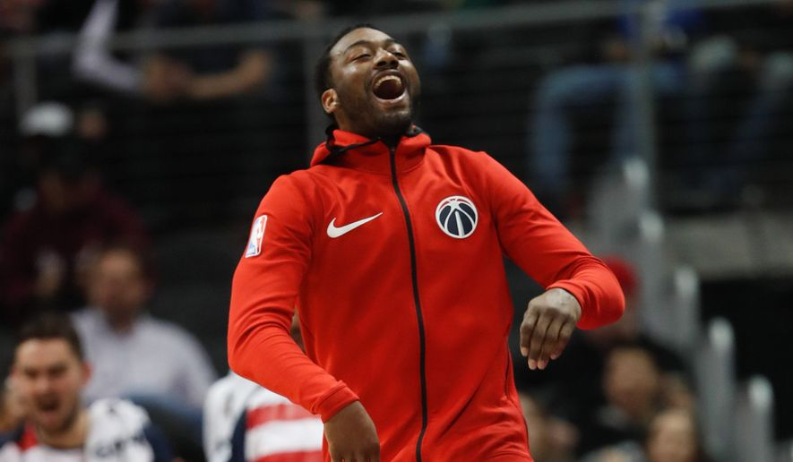Washington Wizards guard John Wall said Monday that he feels great following his left knee surgery on Jan. 31, but he couldn't give a timetable for his return. (ASSOCIATED PRESS)