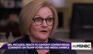 Sen. Claire McCaskill doubled down Sunday on her criticism of Hillary Clinton's comments about voters who supported President Trump, saying the failed 2016 presidential candidate should show respect to all American voters and not just the ones who voted for her. (MSNBC)