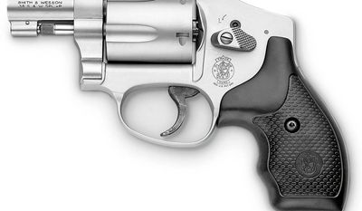 Smith & Wesson 642 -  S&W J-Frame has become the most popular, small-frame, defense revolver on the market. The Model 642 NO INTERNAL LOCK is the latest innovation of the historic Model 42 Centennial Airweight, a lightweight aluminum alloy revolver with a fully concealed hammer. The Model 642 integrates the time-tested features of the original with modern advancements.