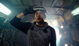 "This image released by Warner Bros. Pictures shows Tye Sheridan in a scene from ""Ready Player One,"" a film by Steven Spielberg. (Warner Bros. Pictures via AP)"