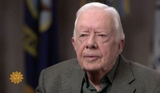 """Former President Jimmy Carter told CBS' """"Sunday Morning"""" that he would prefer not to see President Trump impeached and that he's willing to give the president the """"benefit of the doubt"""" in Robert Mueller's Russia investigation. (CBS)"""
