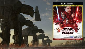 """The First Order's version of the infamous Walkers as seen in """"Star Wars: Episode VIII — The Last Jedi, Ultimate Collector's Edition,"""" now available on 4K Ultra HD from Walt Disney Studios Home Entertainment."""