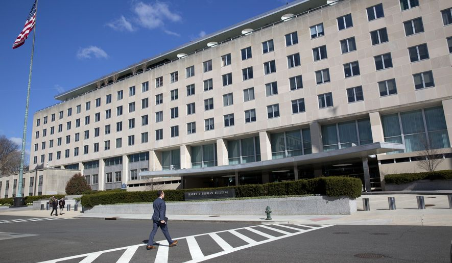 Morale at the State Department has plummeted since President Trump took office, but senior diplomats say the department's role had been diminished in past presidential administrations both Republican and Democrat. (Associated Press/File)