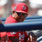 After 16 years as a major league player and more than 10 as a coach, new Washington manager Dave Martinez will be in a dugout for the first time on Thursday as a major league skipper when the Nationals play the Reds in Cincinnati. (Associated Press)
