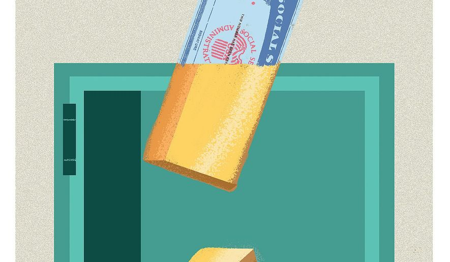 Fraudulent Use of Social Security Numbers Illustration by Linas Garsys/The Washington Times