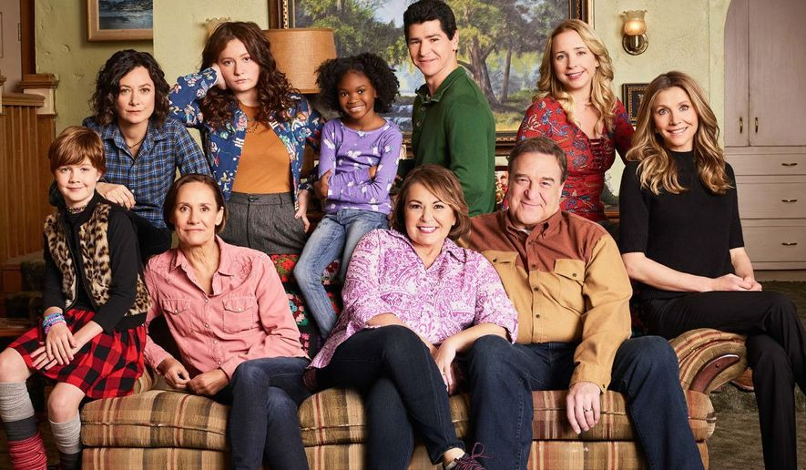 "The old cast returns to the new ""Roseanne"" on ABC, which has some pronounced ""pro-Trump"" moments in  the first episode of the reboot. (ABC)"