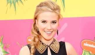 Actress Caroline Sunshine arrives at the 26th annual Nickelodeon's Kids' Choice Awards on Saturday, March 23, 2013, in Los Angeles. (Photo by Todd Williamson/Invision/AP)