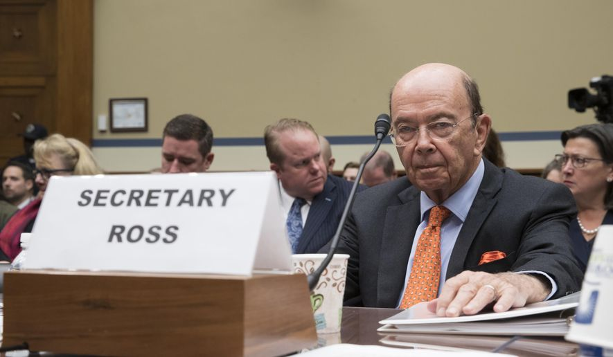 In this Oct. 12, 2017, file photo, Commerce Secretary Wilbur Ross appears before the House Committee on Oversight and Government Reform to discuss preparing for the 2020 Census, on Capitol Hill in Washington. (AP Photo/J. Scott Applewhite, File)
