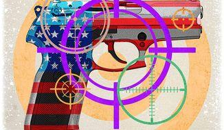 Targeting Handguns Illustration by Greg Groesch/The Washington Times