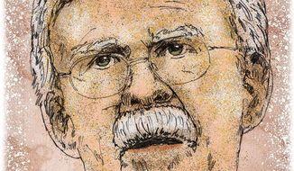 John Bolton Portrait Illustration by Greg Groesch/The Washington Times