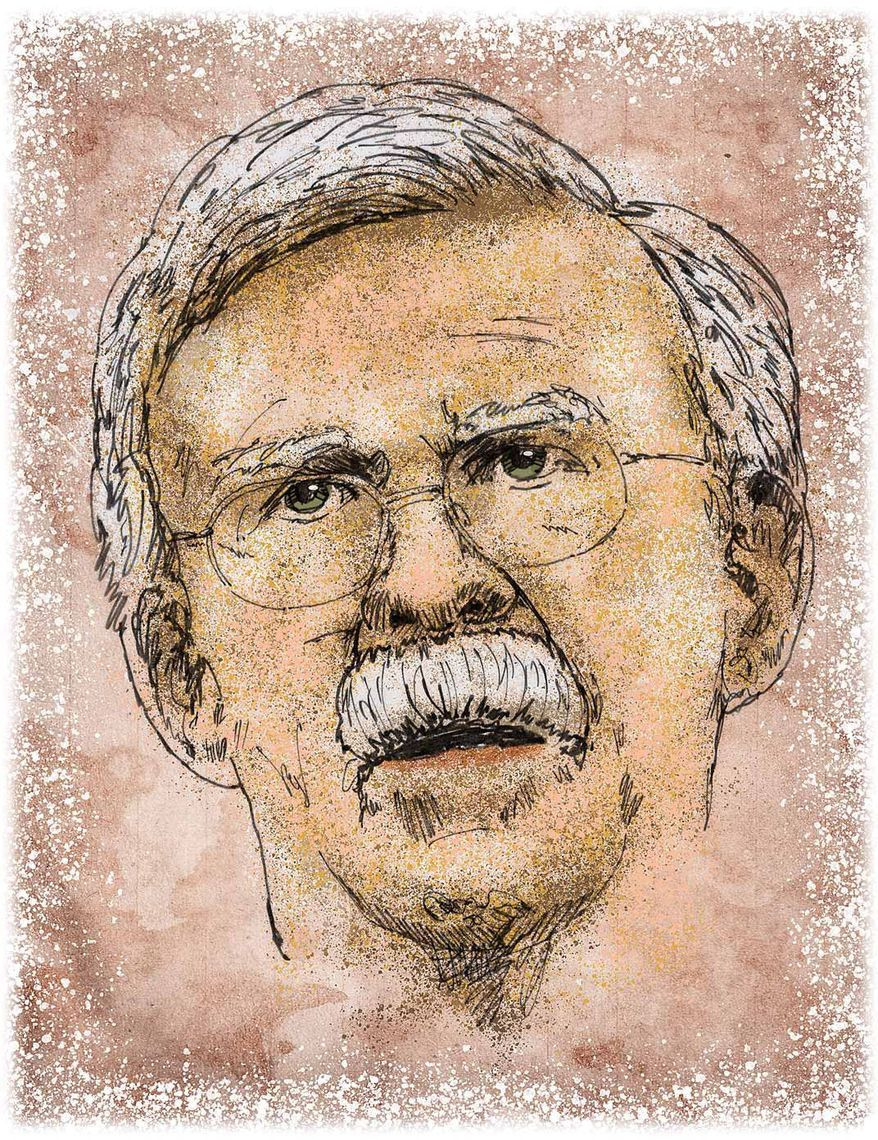 John Bolton Portrait Illustration by Greg Groesch/The Washington Times