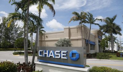 A Chase bank branch in North Miami Beach, Fla. JPMorgan Chase & Co. reports earnings, Friday, Jan. 12, 2018. (AP file Photo/Wilfredo Lee, File)