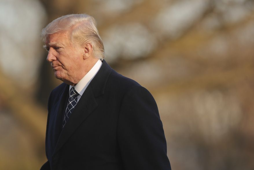 In this March 25, 2018, file photo, President Donald Trump walks across the South Lawn of the White House in Washington after returning from his Mar-a-Lago estate in Palm Beach, Fla. (AP Photo/Pablo Martinez Monsivais, File)