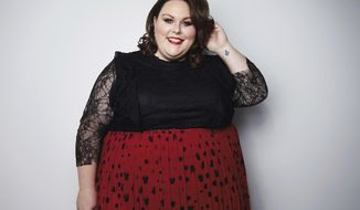 """In this March 26, 2018 photo, actress Chrissy Metz, from the NBC series, """"This Is Us,"""" poses for a portrait in New York to promote her memoir, """"This Is Me."""" (Photo by Taylor Jewell/Invision/AP)"""