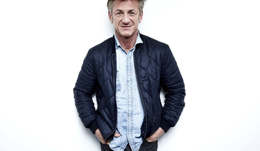 """In this March 27, 2018 photo, author-activist Sean Penn poses for a portrait in New York to promote his novel """"Bob Honey Who Just Do Stuff."""" (Photo by Taylor Jewell/Invision/AP)"""
