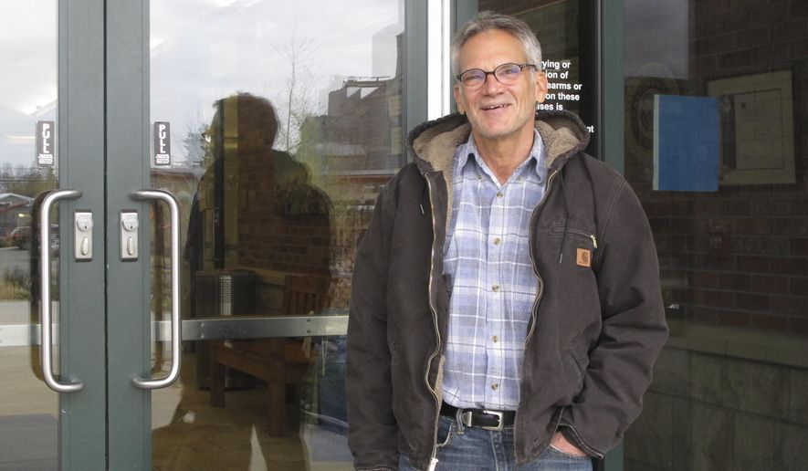 "FILE - In this April 26, 2016, file photo, ""Into Thin Air"" author Jon Krakauer poses for a photo in Bozeman, Mont. A judge has ordered the conditional release of records about a University of Montana rape case to Krakauer after a four-year dispute that pitted student privacy against the public's right to know the decisions their government agencies are making. (AP Photo/Matt Volz, file)"