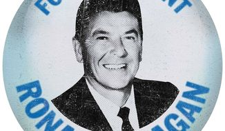 1968 Reagan Campaign Button Illustration by Greg Groesch/The Washington Times