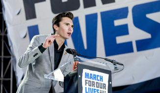 """""""An apology in an effort just to save your advertisers is not enough,"""" David Hogg tweeted 18 hours after enlisting Laura Ingraham's advertisers. (Associated Press)"""