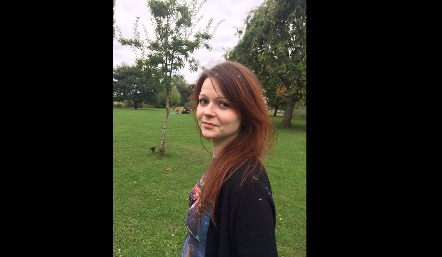 This is a file image of the daughter of former Russian spy Sergei Skripal, Yulia Skripal, taken from Yulia Skipal's Facebook account on Tuesday March 6, 2018. (Yulia Skripal/Facebook via AP, File)
