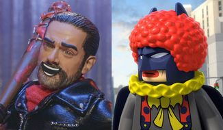 "Negan co-stars in ""The Robot Chicken Walking Dead Special: Look Who's Walking"" and Batman is a real clown in ""Lego DC Comics Super Heroes: The Flash,"" both available on Blu-ray from Warner Bros. Home Entertainment."
