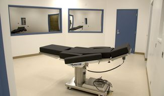 This Nov. 10, 2016, file photo released by the Nevada Department of Corrections shows the newly completed execution chamber at Ely State Prison in Ely, Nevada.  (Nevada Department of Corrections via AP, file) **FILE**