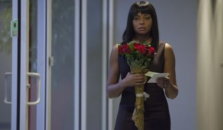 "This image released by Lionsgate shows Taraji P. Henson in a scene from ""Tyler Perry's Acrimony."" (Chip Bergmann/Lionsgate via AP)"