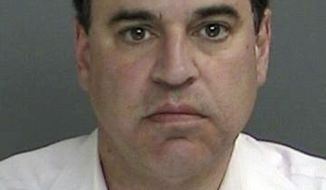 This photo provided by the Suffolk County Police Department, Friday, March 30, 2017, shows Suffolk County District Court Judge Robert Cicale. Police say the Long Island judge, arrested on burglary charges, entered a neighbor's home and was later found to be in possession of stolen female underwear. (Suffolk County Police Department via AP)