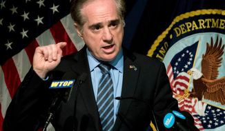 FILE - In this March 7, 2018, file photo, Veterans Affairs Secretary David Shulkin speaks at a news conference at the Washington Veterans Affairs Medical Center in Washington. Shulkin is making it clear he was fired from his job amid conflicting claims from the White House.  (AP Photo/Andrew Harnik, File)